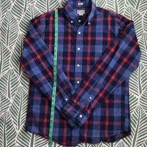 J.Crew Men's Plaid Cotton Slim Fit Shirt S